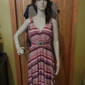 Dresses & Skirts - Southwest Aztec Boho Retro Style Dress sz 12